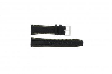 Bracelet de montre Seiko 7T62-0HL0 / SNAB57P1 / 4LP3JB Cuir Noir 24mm