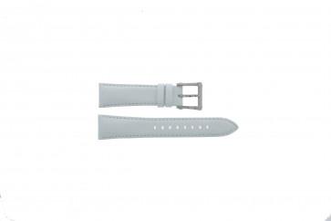 Seiko bracelet de montre 7T92-0KS0 Cuir Blanc 20mm