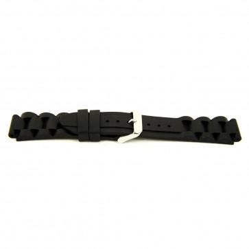 Other brand bracelet de montre SL101 Silicone Noir 22mm