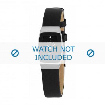 Skagen bracelet de montre 271SSLB Cuir Noir 12mm