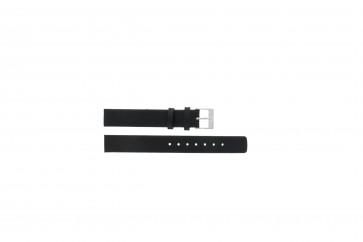 Bracelet de montre Skagen 355SSLW / 355SSLB Cuir Noir 14mm