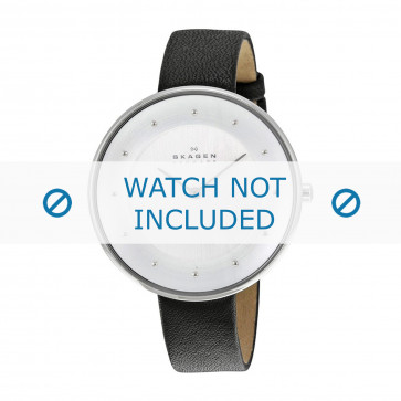 Skagen bracelet de montre SKW2232 Cuir Noir 14mm