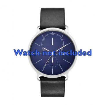 Skagen bracelet de montre SKW6241 Cuir Noir 20mm