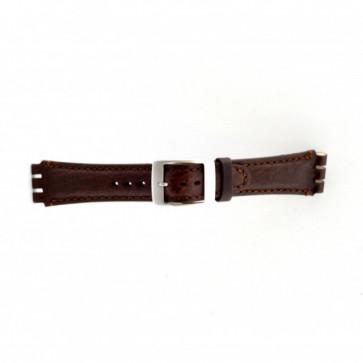Bracelet de montre Swatch (alt.) SC14.02 Cuir Brun 19mm