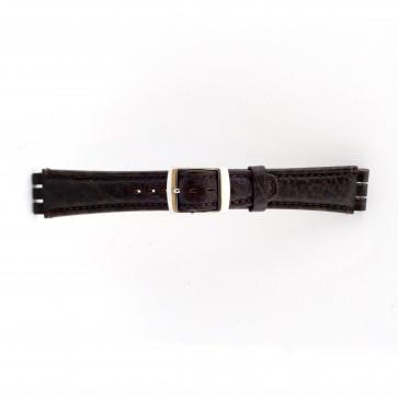 Bracelet de montre Swatch (alt.) 21412.27 Cuir Brun 19mm