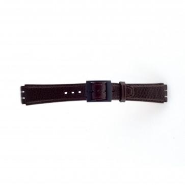 Bracelet de montre Swatch SC04.02 Cuir Brun 17mm