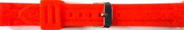 Bracelet de montre Universel 253 Silicone Rouge 24mm