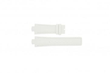 Breil bracelet de montre TW0394 / F660012788 Cuir Blanc 12mm + coutures blanches