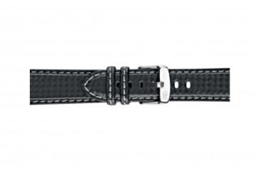 Morellato bracelet de montre Biking U3586977891CR24 / PMU891BIKING24 Carbone Noir 24mm + coutures grises