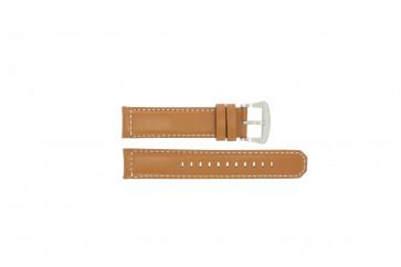Bracelet de montre Seiko V172-0AG0 / SSC081P1 Cuir Brun 21mm
