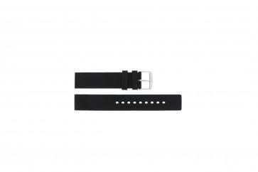Bracelet de montre Universel 6826.20 / 21901.10.20 Caoutchouc Noir 20mm