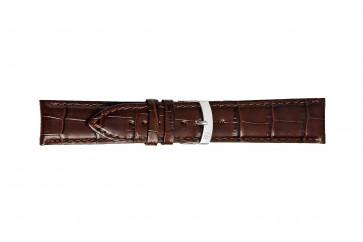 Morellato bracelet de montre Extra X3395656032CR28 / PMX032EXTRA28 Cuir croco Brun foncé 28mm + coutures défaut