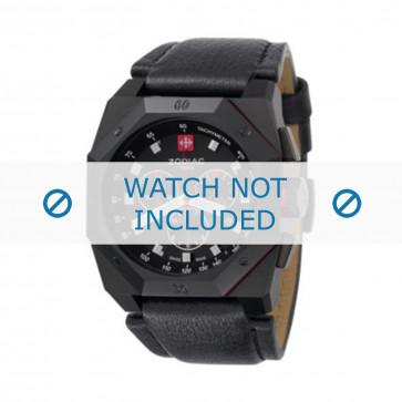 Bracelet de montre Zodiac ZO1800 Cuir Noir 24mm