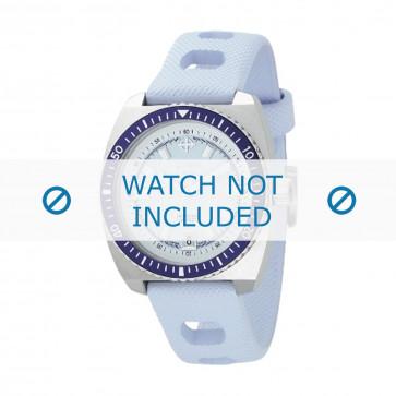 Bracelet de montre ZO2230 Caoutchouc Bleu clair 20mm