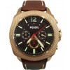 Bracelet de montre Fossil BQ2032 Cuir Brun 24mm