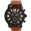 Bracelet de montre Fossil BQ2052 Cuir Brun 24mm