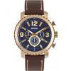 Bracelet de montre Fossil BQ2102 Cuir Brun 24mm