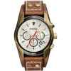 Bracelet de montre Fossil CH2987 Cuir Brun 22mm