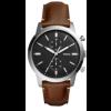 Bracelet de montre Fossil FS5394SET Cuir Brun 22mm
