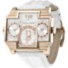 Police bracelet de montre PL13088JSR-04 Cuir Blanc + coutures blanches