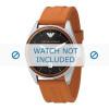 Armani bracelet de montre AR0526 Silicone Orange 23mm