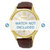 Bracelet de montre Seiko 7N42-0GG0 / SGEH56P1 Cuir croco Brun 21mm