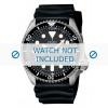 Bracelet de montre Seiko 7S26-0020 / SKX007K1 / 4FY8JZ / 4D41JZ Caoutchouc Noir 22mm