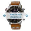 Bracelet de montre Seiko V176-0AG0 / SSC421P1 Cuir Cognac 20mm