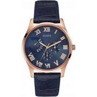 Bracelet de montre Guess W0608G2 Cuir Bleu 22mm