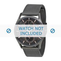 Bracelet de montre Skagen SKW6180 Milanais Gris anthracite 22mm