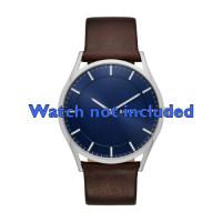 Bracelet de montre Skagen SKW6237 Cuir Brun 22mm