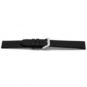 Bracelet de montre cuir noir 16mm EX-E113