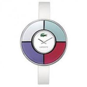 Bracelet de montre Lacoste 2000608 / 2000579 / LC-37-3-29-2210 Cuir Blanc 10mm