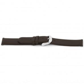Bracelet de montre Universel D300 Cuir souple Brun 14mm