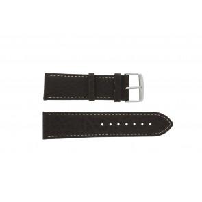 Bracelet de montre 307.02 XL Cuir Brun 20mm + coutures blanches