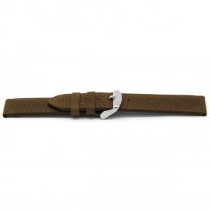 Bracelet de montre D329 Cuir Brun 14mm + coutures défaut