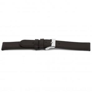 Bracelet de montre D400G Cuir Brun 14mm + coutures brunes