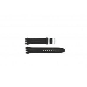 Bracelet de montre Swatch (alt.) 51643.01.17 Cuir Noir 17mm