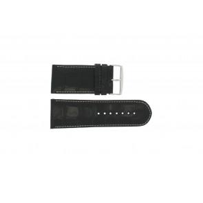 Noir cuir croco 28mm WP-61324