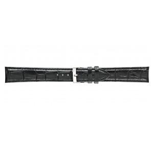 Morellato bracelet de montre Bolle XL Y2269480019CR22 / PMY019BOLLE22 Cuir croco Noir 22mm + coutures défaut