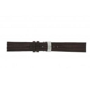 Elysee bracelet de montre Ely.02 Cuir Brun foncé 20mm + coutures brunes