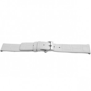 Bracelet de montre Universel F520 Cuir Blanc 18mm