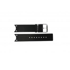 Calvin Klein bracelet de montre K0V23107 / K600.000.036 Cuir Noir