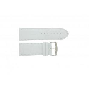 Bracelet de montre Universel 305.09 Cuir Blanc 30mm