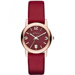 Bracelet de montre Luminox MBM1403 Cuir Rouge 14mm