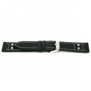 Bracelet de montre Universel F165 Cuir Noir 18mm