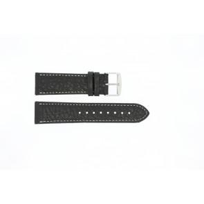 Bracelet de montre Universel 307L.01 XL Cuir Noir 24mm