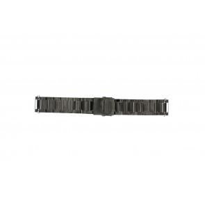 Bracelet de montre QQ22ZWR Métal Noir 22mm