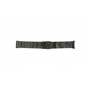 Bracelet de montre QQ24ZWRD Métal Gris anthracite 24mm