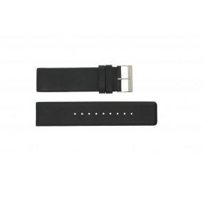 Bracelet de montre Obaku V116 Cuir Noir 24mm